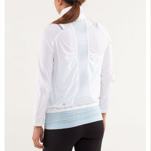 Lululemon White Run Nada Windbreaker Jacket Sz 4/6